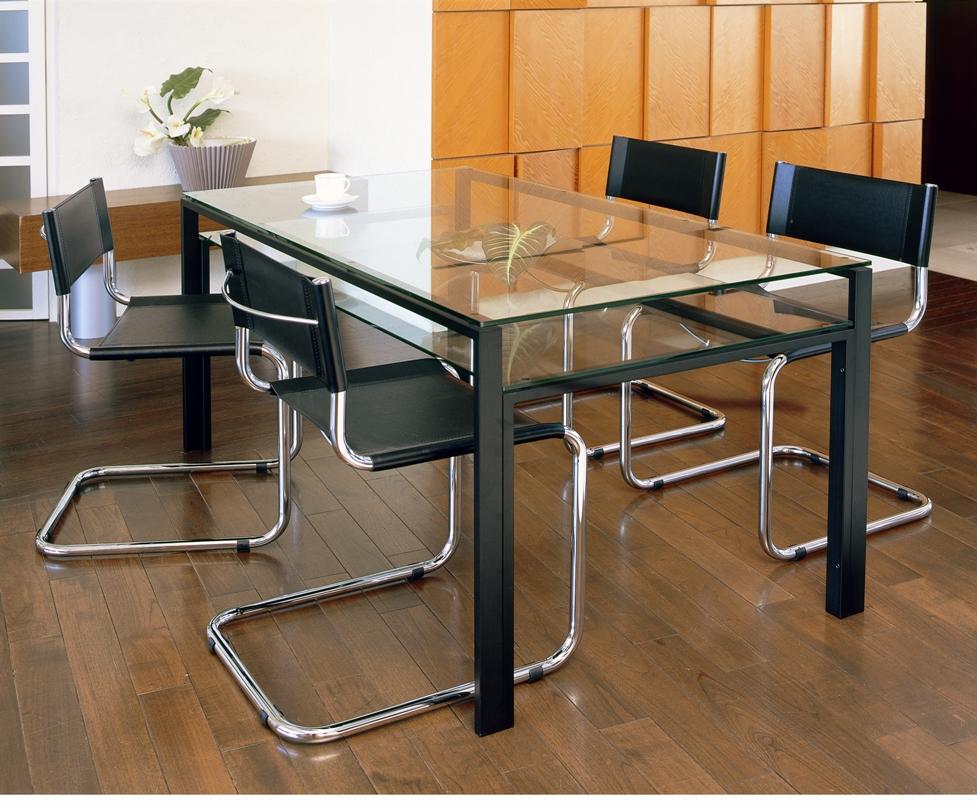 【送料無料】【DT-2】ガラスダイニングテーブル1300x800mm/ブラックフレーム・クリアガラス天板/フロストガラス棚付き 配送時間指定不可