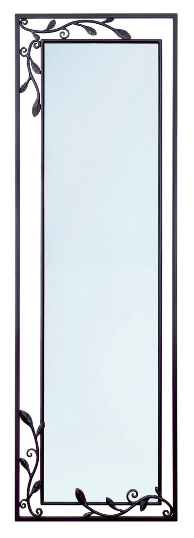 壁掛けミラー 鏡 姿見 NA-202 アイアン・ブラック【interior送料無料】配送時間指定不可
