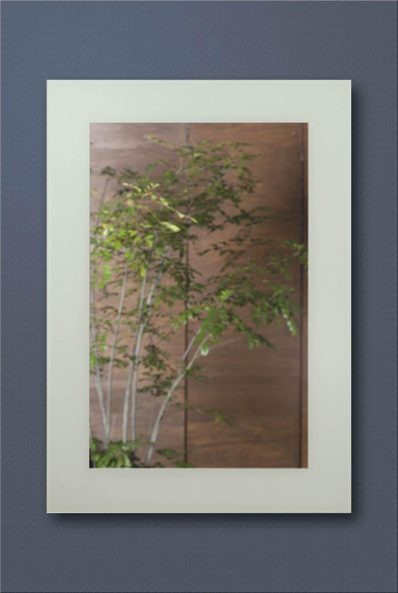 お買い得!シンプルミラー 壁掛け鏡 吊り鏡【ホワイトガラス】9525AFN 【interior送料無料】