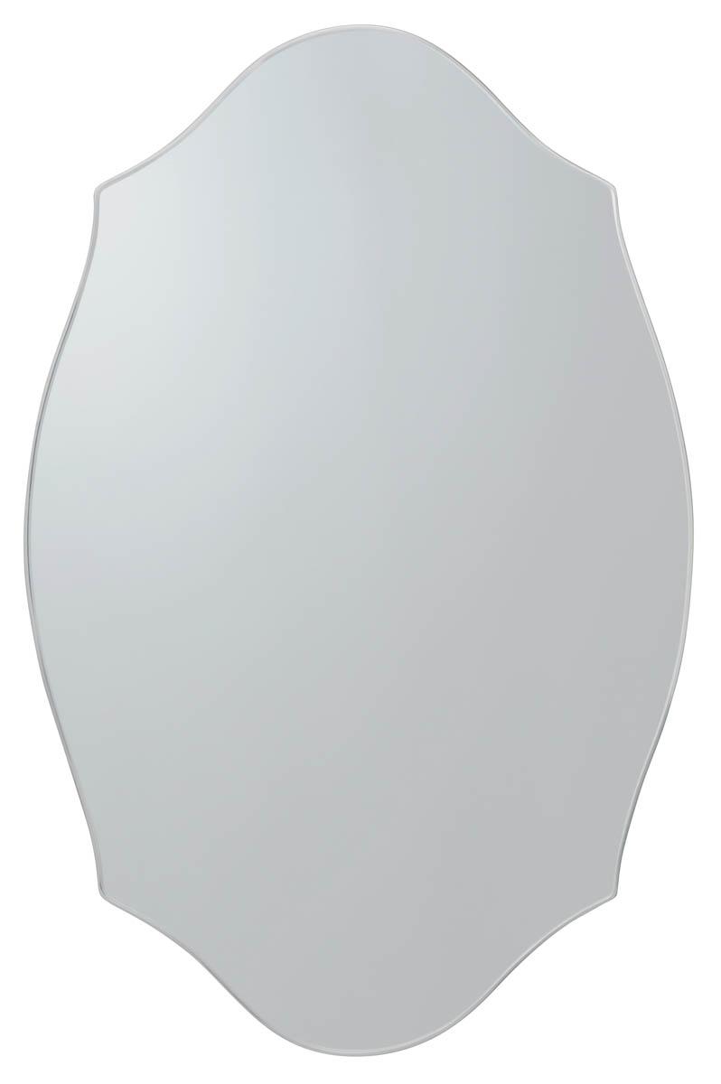 壁掛けミラー オーバル型 フレームなし 鏡 【AI-611】 デザインカット【interior送料無料】