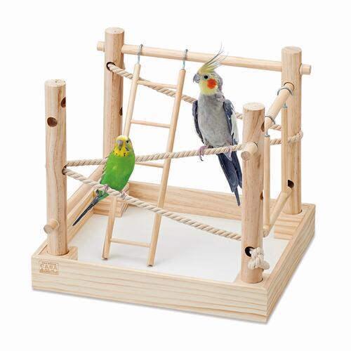 室内での放鳥時に レビューを書けば送料当店負担 小鳥と一緒に遊べます 絶品 小鳥の箱庭アスレチック マルカン