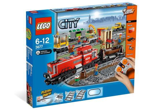 レゴ シティ 3677 レッドカーゴトレイン