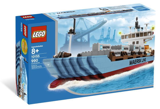 LEGO Sculptures セール商品 レゴ スカルプチャー Ship 10155 蔵 Container Maersk