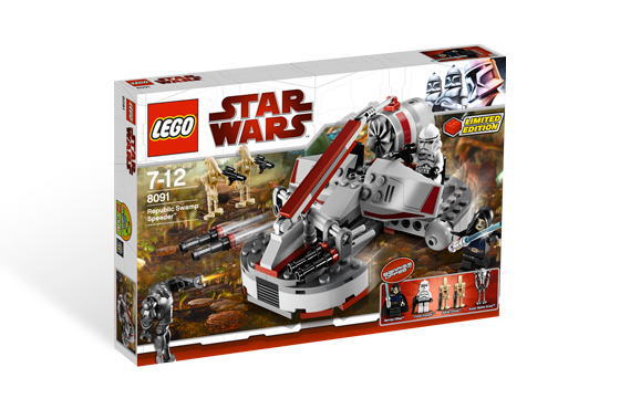 レゴ スターウォーズ 8091 Republic Swamp Speeder