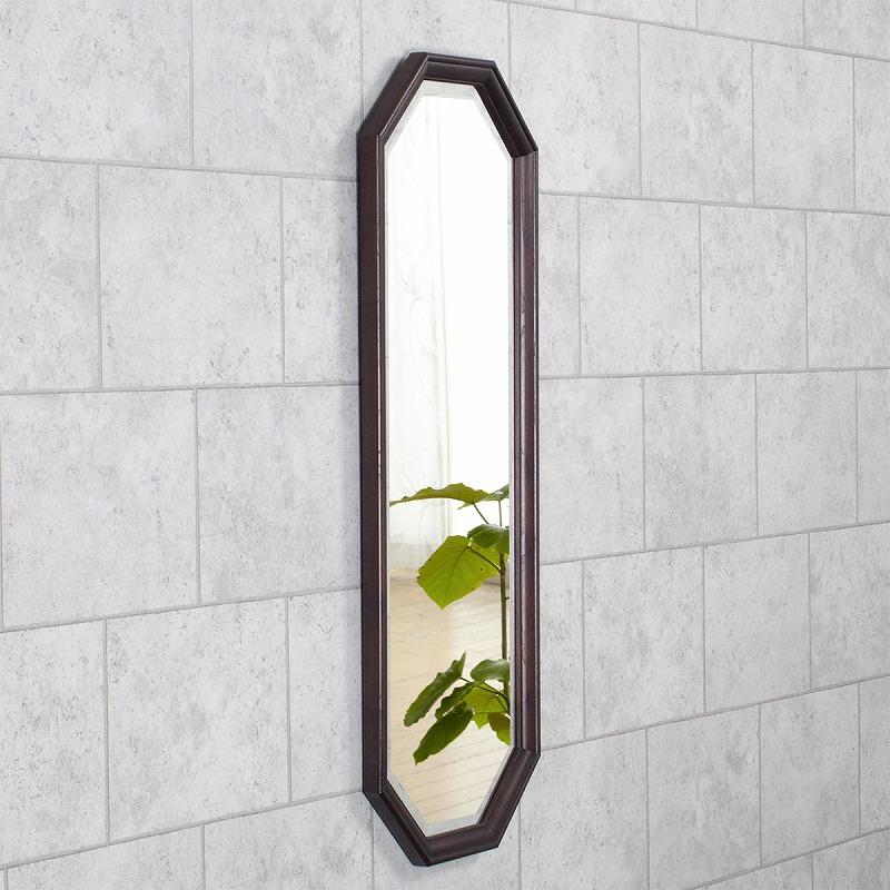 ウッドフレームミラー 家具調ミラー 壁掛け鏡 角型ミラー