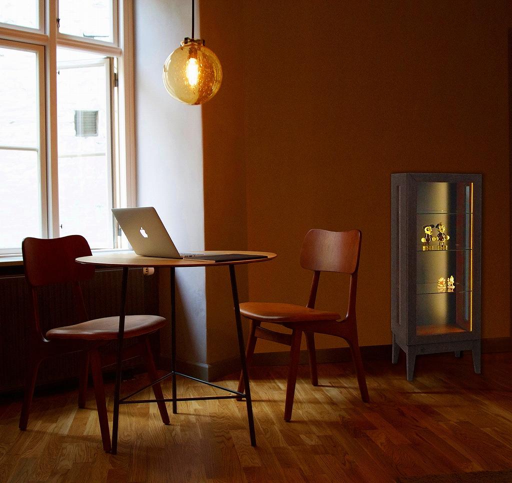 インテリアコレクションケース 北欧風キャビネット 木製ショーケース 木目調ガラスキャビネット 収納 ガラスキャビネット 鉄道模型