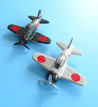 飛行機のマグネットです 実用的 コレクションにも ank 零式艦上戦闘機 ひこうき 激安通販販売 国産品 マグネット飛行機セット MZ524