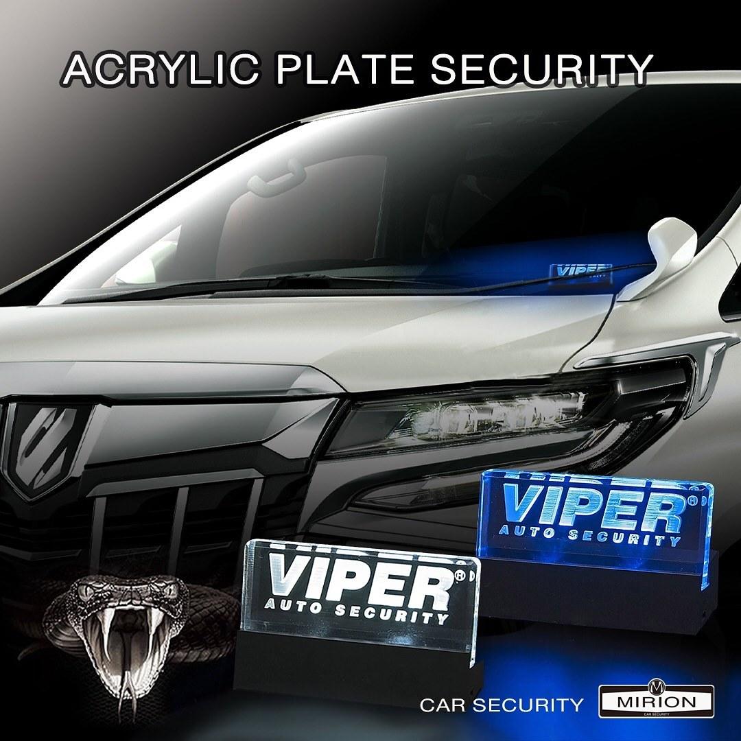 VIPERアクリルプレートセキュリティー連動点滅 単独使用も可能 防犯対策 加藤電機 640V VIPER メーカー直送 大幅値下げランキング 日本正規品 カーセキュリティ