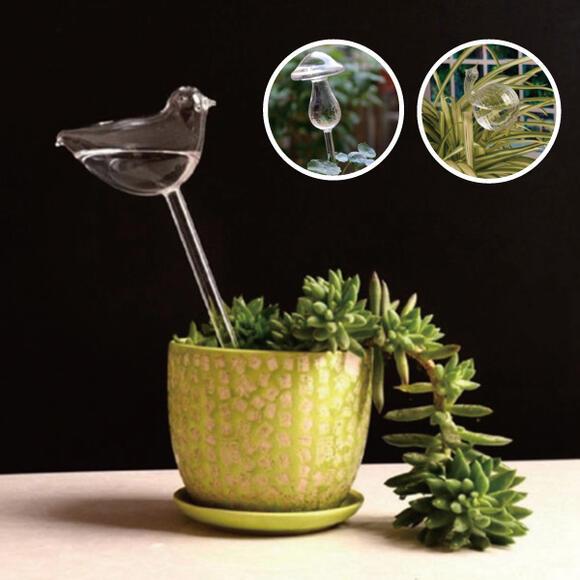 ご注文で当日配送 可愛いデザインで毎日の水やりが楽になります 上質 ウォーターキーパー 水やり 植物給水機観葉植物 花ガーデニングガラス製