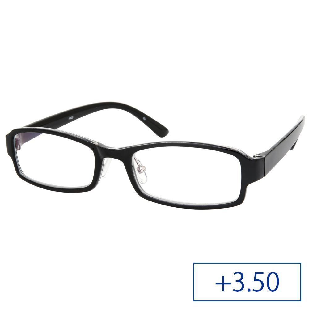 リーディンググラス パソコンリーダー 老眼鏡 PR20 +3.50 ブラック