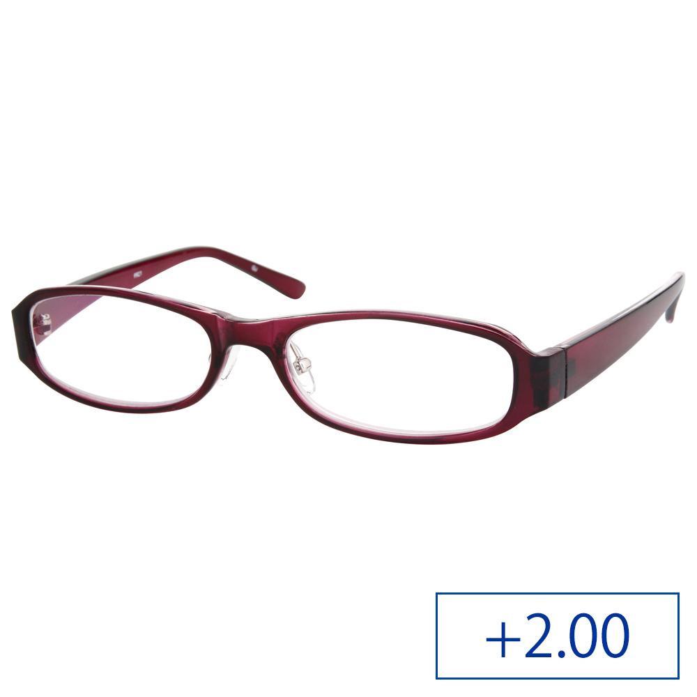 リーディンググラス パソコンリーダー 老眼鏡 PR21 +2.00 ワインレッド