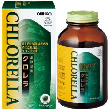 オリヒロ 清浄培養クロレラ  1400粒(280g) 12個