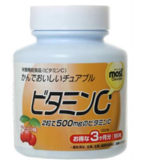 オリヒロ MOSTチュアブル ビタミンC 180粒 24個