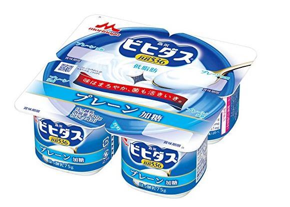 ≪クール便≫ ビヒダス BB536 プレーン加糖 4ポット 【(75g×4)×6個】