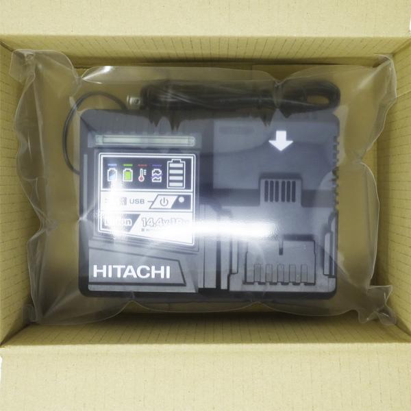 [新品 未使用品 充電器のみ]HitachiKoki 日立工機急速充電器UC18YDL1台[14.4V/18V用 USB充電1口付]日立工機純正品(日本仕様)