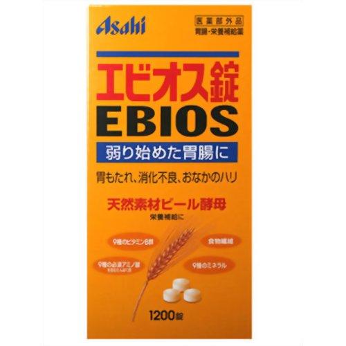 アサヒフードアンドヘルスケア オンラインショップ Asahi 販売期間 限定のお得なタイムセール 1200錠 エビオス錠