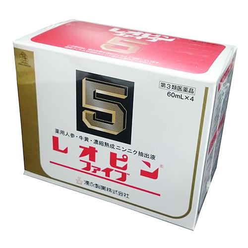 【第3類医薬品】レオピンファイブW 60ml×4本入【 使用期限:2019/7以降 】