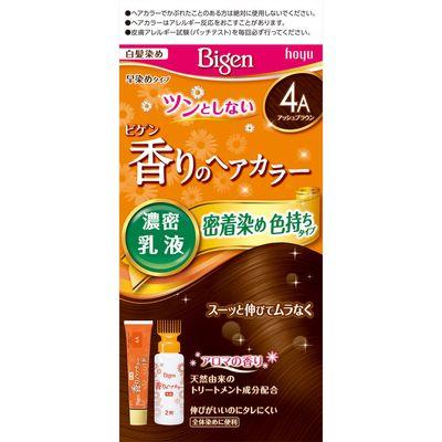 <title>ホーユー 医薬部外品 ビゲン SEAL限定商品 香りのヘアカラー 乳液 4Aアッシュブラウン</title>