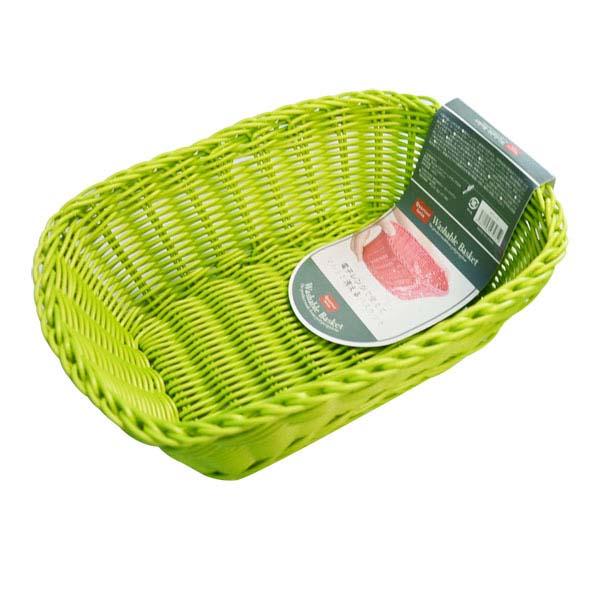 シービージャパン 洗えるバスケット レクタングル 無料 オリーブ 品質検査済 M