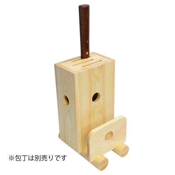 Wooden knife and cutting board set
