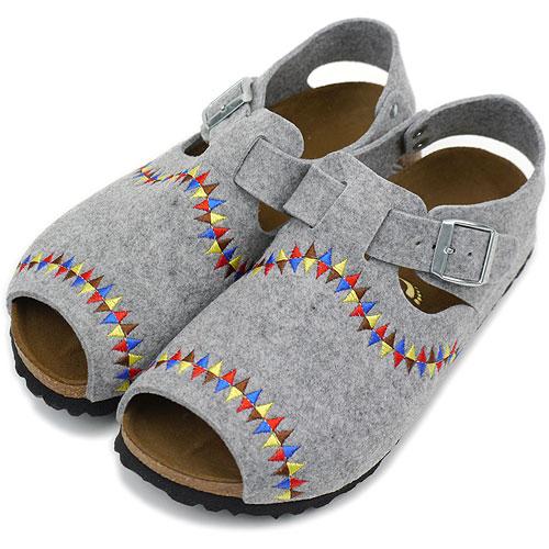 usa cheap sale best website new high quality BIRKENSTOCK ビルケンシュトックレディースメンズ Papillio VIENNA sandals papilio biEna LIGHT  GRAY (171173 AW11)