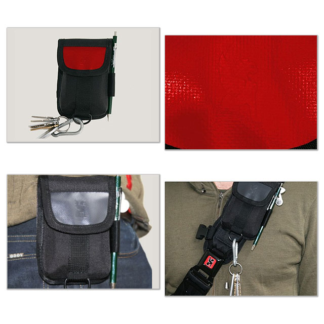 fd243b8d54 CHROME chrome bag ACCESSORY POUCH accessories pouch BLACK RED ( CR109BKRD00  ) fs3gm