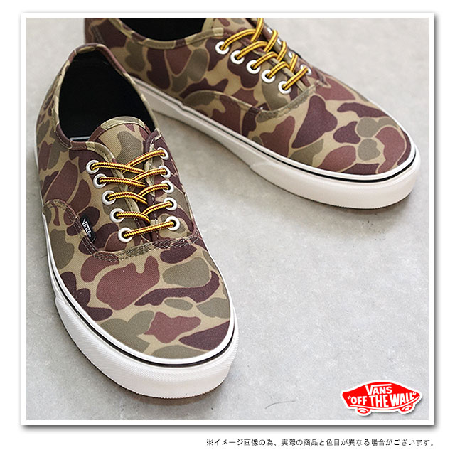 65113c92a6 □□VANS vans sneakers CLASSICS AUTHENTIC authentic (WAXED CANVAS) CAMO  MARSHMALLOW (VN-0TSV8X0 FW13)
