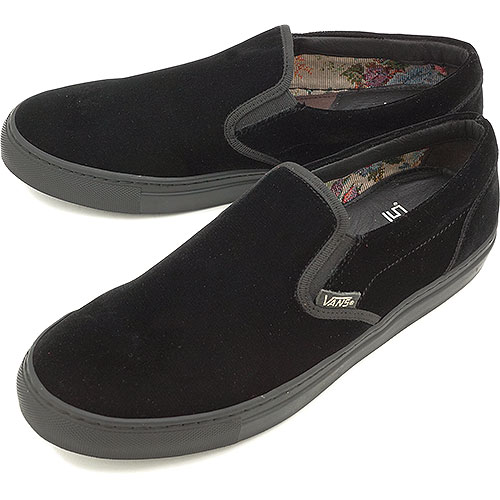 e465726abe0 □□VANS vans sneakers No. 6 SLIP ON slip-on (VELVET) M.BLACK (V6098 FW13)