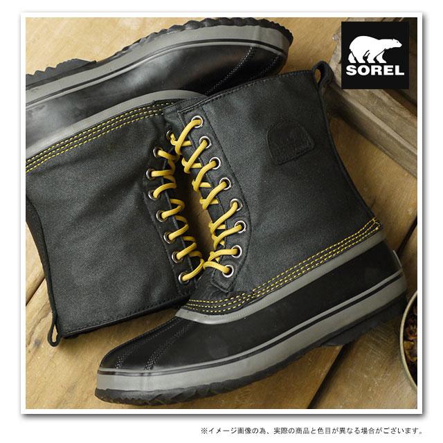 3b8c6771d91 1964 SOREL Sorrel snow boot men PREMIUM T CVS 1964 premium T canvas  BLACK/SAUTRENE (NM1560-011 FW13)