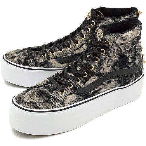 3db1253a9d VANS vans sneakers CLASSICS SK8-HI PLATFORM classical music skating high  platform (STUDDED) BLACK WASHED CORD (VN-0RRFAIT HO13)
