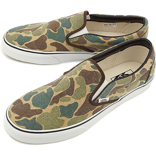 034ee585e43658 □□VANS vans sneakers CLASSICS SLIP-ON classical music slip-on (VAN DOREN)  CAMO (VN-0UC4AKB HO13)