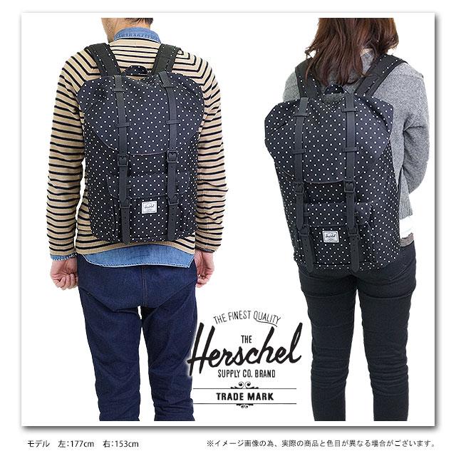 5b606bcfdb Herschel Supply Hershel supply bag Little America Mid-Volume Little America  mid volume backpack (rucksack day pack) Black-PolkaDot (10020-00216-OS HO13)