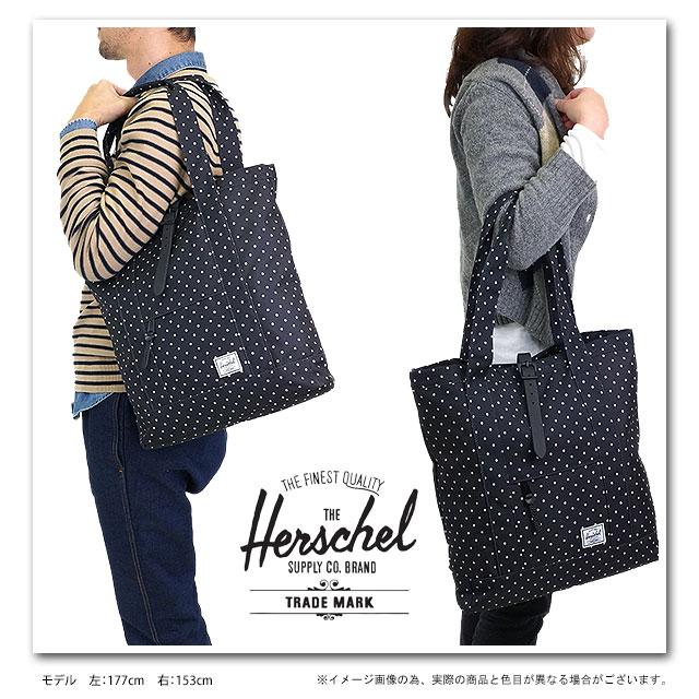 67b2f6113a4e Herschel Supply Hershel supply bag Market market tote bag Black-PolkaDot  (10029-00216-OS HO13) fs3gm