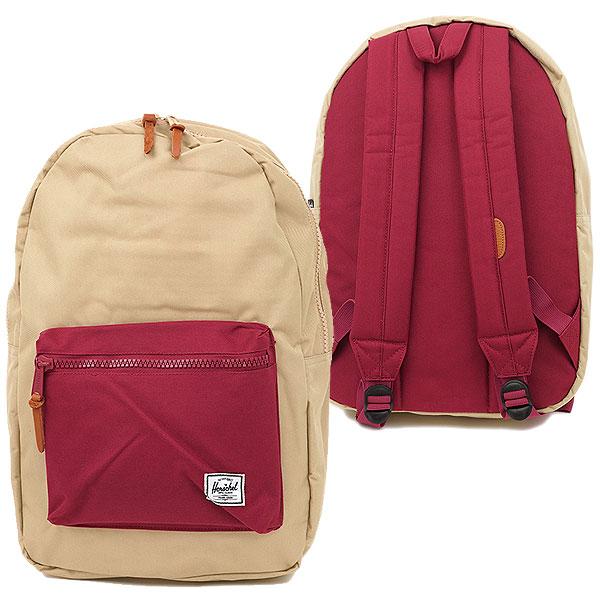 27cd6959a1a Herschel Supply Hershel supply bag Settlement セトルメントバックパック (rucksack day  pack) Khaki Burgundy (10005-00223-OS HO13)