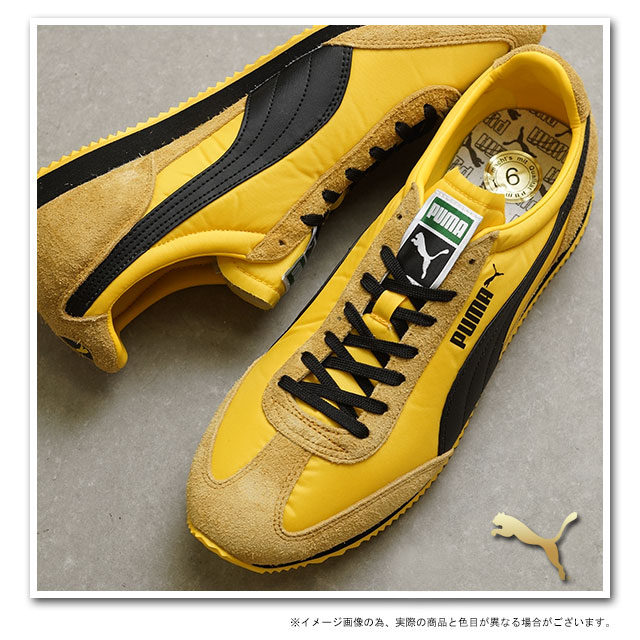 ■Surprising 50% OFF!! ■PUMA puma sneakers SF77 her best gold / black / Dan Delaware ion (354,656-01)