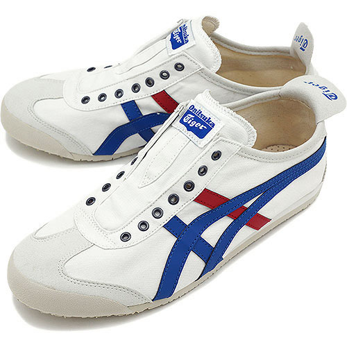 buy online f90df 26909 Onitsuka Tiger Onitsuka tiger sneakers MEXICO 66 SLIP-ON CV Mexico 66  slip-ons CV white / tricolor (TH1B2N-0143) OnitsukaTiger Onitsuka tiger