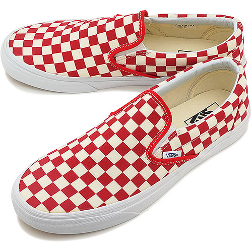 red checkered slip on vans