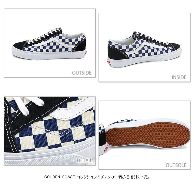 VANS卡車運動鞋CLASSICS STYLE 36古典煤塵瓷磚36(GOLDEN COAST)TRUE BLUE/CHECK(VN-0XI0DI9 FW14)