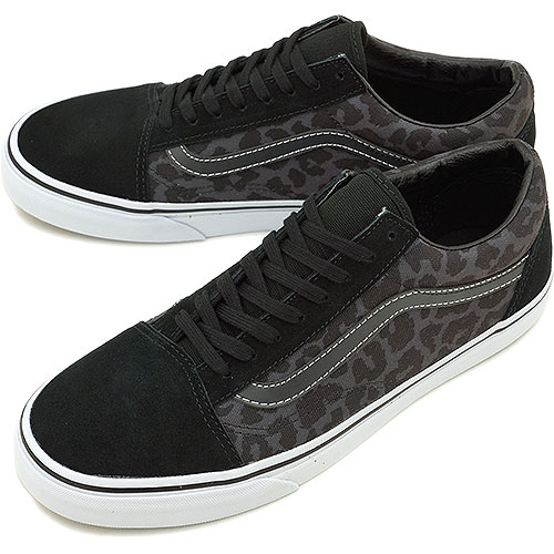 5899781af4e VANS vans sneakers CLASSICS OLD SKOOL classical music old school (WAXED)  LEOPARD BLACK (VN-0VOKDQW FW14)