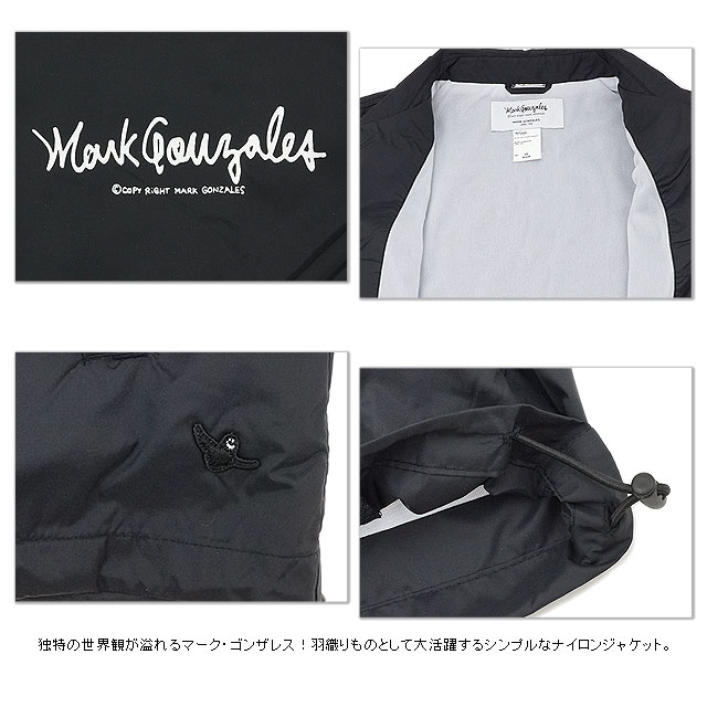 MARK GONZALES mark Gonzales men nylon coach jacket (MG14W-B01 FW14)