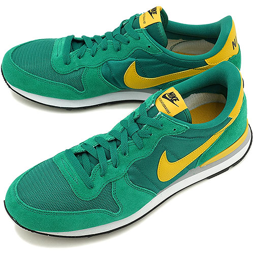 new arrival dcc81 81c6b NIKE nike men sneakers internationalist Mystic green   gold lead  (631,754-300 FW14)