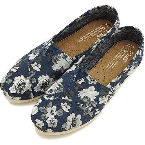 TOMS Toms shoes women's sneaker WOMENS SEASONAL CLASSICS seasonal classics slip-on Navy Grey Floral ( 10002850 FW14 )