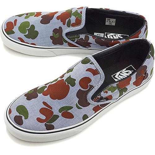 ecdef572c4 VANS vans sneakers men gap Dis CLASSICS CLASSIC SLIP-ON classical music  classical music slip-on (HERRINGBONE) CAMO NAVY (VN-0XG8ET5 FW14)