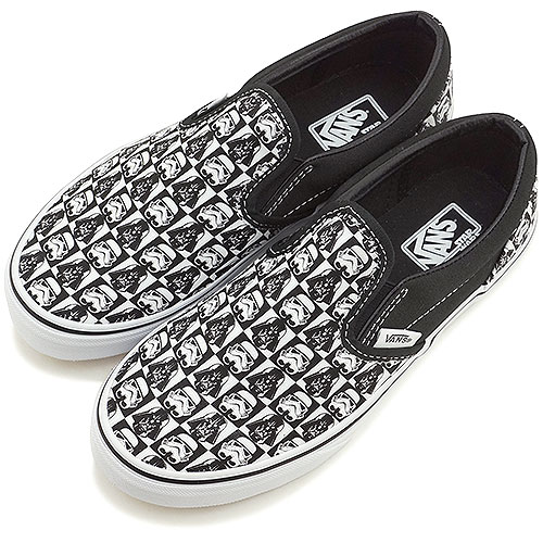b74242646b VANS vans kids sneakers KIDS CLASSIC SLIP-ON kids Star Wars classical music  slip-on (STAR WARS) DARK SIDE CHECKERBOARD (VN-0ZBUEX7 FW14)