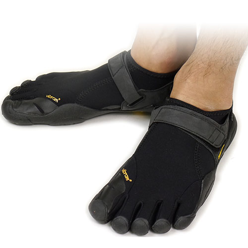 Vibram FiveFingers Vibram five fingers mens FLOW Black/Black Vibram five fingers five finger shoes barefoot ( M138 ) fs3gm