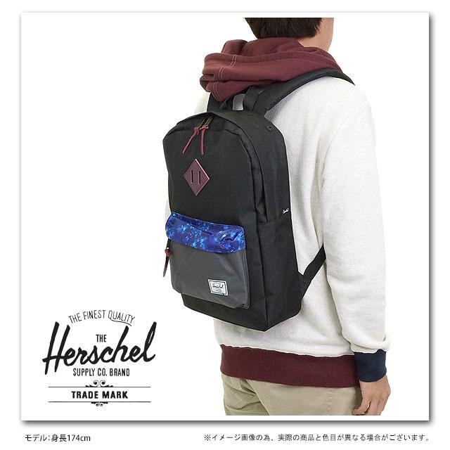 Herschel Mid Volume Heritage in Black 8VgKXe4Ar