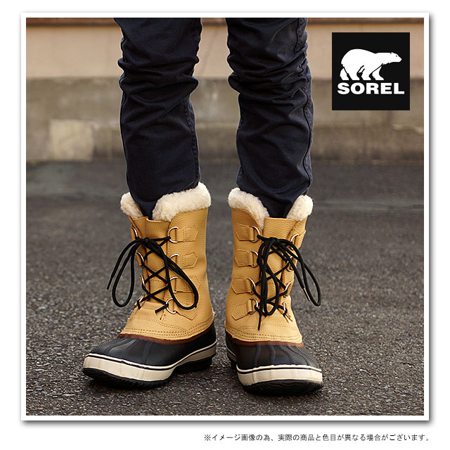5cbb6d9e86e 1964 SOREL Sorrel snow boot men PAC T 1964 pack T CURRY/BLACK shoes  (NM1439-373 FW14)