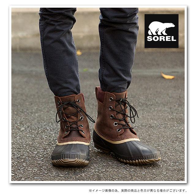 108cf50a6a4 SOREL Sorrel snow boot men CHEYANNE LACE FULL GRAIN Cheyenne race full  grain MADDER BROWN/STOUT NM1704-259 shoes