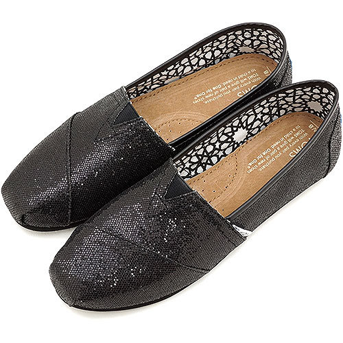 汤姆斯汤姆斯鞋妇女运动鞋女装闪光经典闪光经典滑黑金子 (001013B09)
