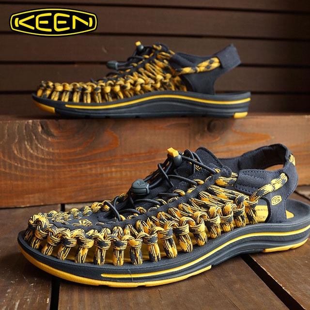 基恩熱衷於男涼鞋鞋水 UNEEK 8 毫米 MNS 獨特八毫米男子午夜 Navk/譜黃色 1013241 FW15
